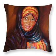 Egyptian Nubian Girl Throw Pillow