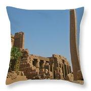 Egyptian Obelisk Throw Pillow