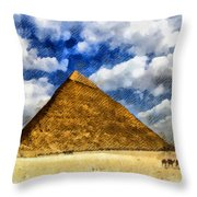 Egyptian Pyramid Throw Pillow