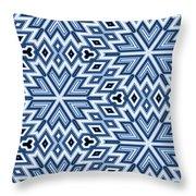 Egyptian Pyramidal Cubes Throw Pillow