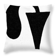 Egyptian Symbol Menat Throw Pillow
