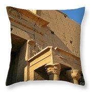 Egyptian Temple Architectural Detail Throw Pillow