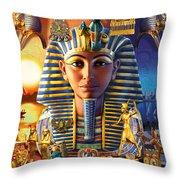 Egyptian Treasures II Throw Pillow
