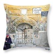 Egyptian Woman Throw Pillow