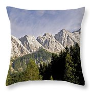 Eibsee Bavaria Germany Throw Pillow