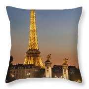 Eiffel At Twilight Throw Pillow