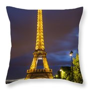 Eiffel Dusk Throw Pillow