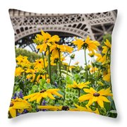 Eiffel Flower Throw Pillow