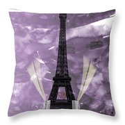 Eiffel Tower - Paris - Love Throw Pillow