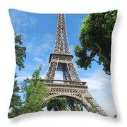 Eiffel Tower - 1 Throw Pillow