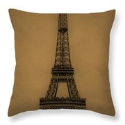 Eiffel Tower 1889 Throw Pillow by Andrew Fare