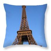 Eiffel Tower 2005 Ville Candidate Throw Pillow
