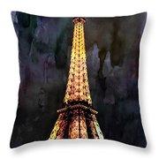 Eiffel Tower-3 Throw Pillow