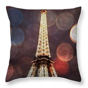 Eiffel Tower-4 Throw Pillow