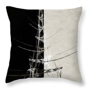 Eiffel Tower Abstract Bw Throw Pillow