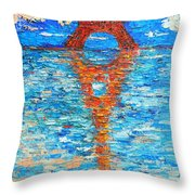 Eiffel Tower Abstract Impression Throw Pillow
