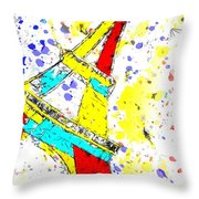 Eiffel Tower Abstract - Paris France Throw Pillow