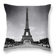 Eiffel Tower And Park 1909 Throw Pillow