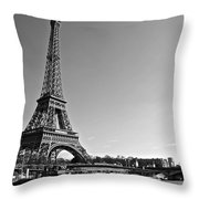 Eiffel Tower And The Seine Throw Pillow