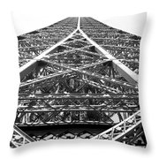 Eiffel Tower Throw Pillow by Andrea Anderegg