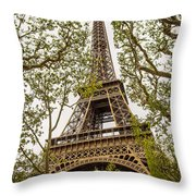 Eiffel Tower Throw Pillow