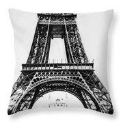 Eiffel Tower Construction Throw Pillow
