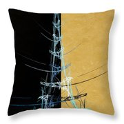 Eiffel Tower In Blue Abstract Throw Pillow