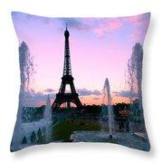 Eiffel Tower In Evening Light Throw Pillow