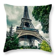 Eiffel Tower In Hdr Throw Pillow