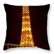 Eiffel Tower Las Vegas Nevada Throw Pillow