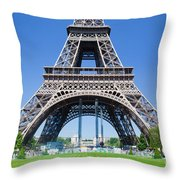 Eiffel Tower Lower Part Paris Throw Pillow