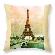 Eiffel Tower Mood Throw Pillow