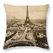 Eiffel Tower, Paris, 1900 Throw Pillow