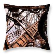 Eiffel Tower Paris France Close Up Throw Pillow
