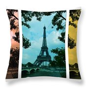 Eiffel Tower Paris France Trio Throw Pillow