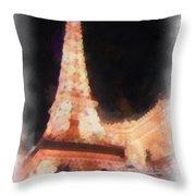 Eiffel Tower Paris Las Vegas Photo Art Throw Pillow
