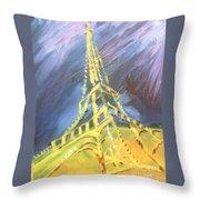Eiffel Tower Paris Night Throw Pillow