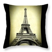Mighty Eiffel Tower Throw Pillow