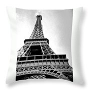 Eiffel Tower Up Close 3 Throw Pillow