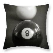 Eight Ball Throw Pillow by Edward Fielding