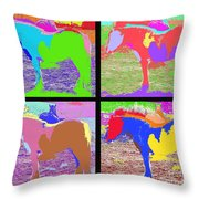Eight Horses Throw Pillow by Patrick J Murphy