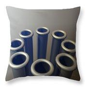 Eight Metallic Tubes Throw Pillow