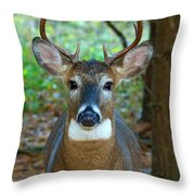 Eight Point Face To Face Throw Pillow