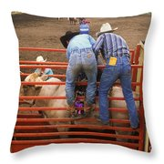 Rodeo Eight Seconds To Payday Throw Pillow