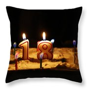 Eighteen Throw Pillow