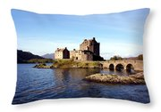 Eilean Donan Castle Kintail Scotland Throw Pillow