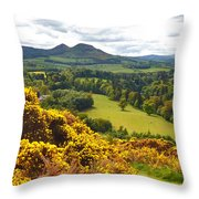Eildon Hill - Three Peaks And A Valley Throw Pillow
