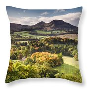 Eildon Hills   Throw Pillow