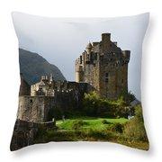 Eilean Donan At Kyle Of Lochalsh Throw Pillow