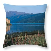 Eilean Donan Castle & Loch Duich Throw Pillow